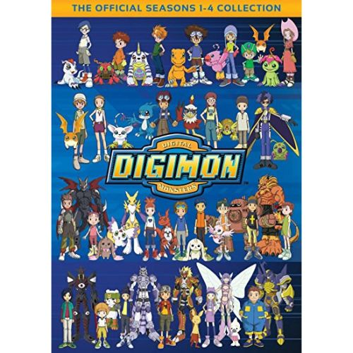 Digimon Seasons 1-4 Kids Movie DVD