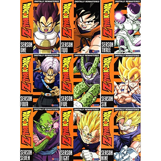 Dragonball Z Seasons 1-9 Kids Movie DVD