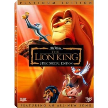 The Lion King Platinum Edition Kids Movie DVD