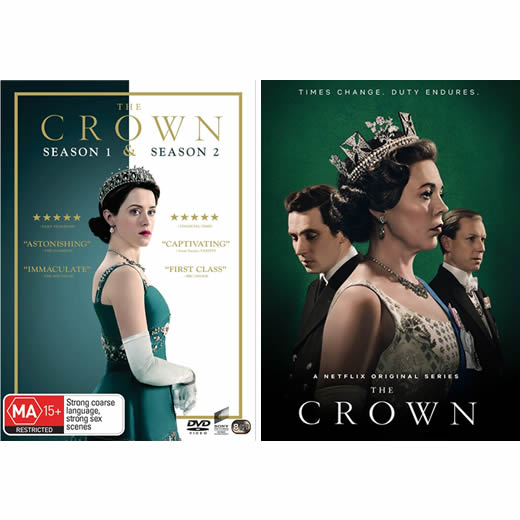 The Crown Complete Series 1-3 DVD