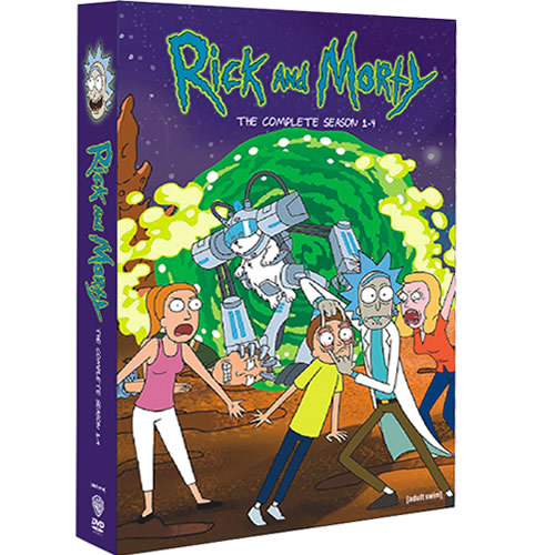 Rick and Morty Complete Series 1-4 (8-Disc DVD)
