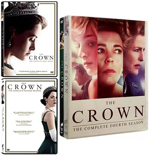 The Crown Complete Series 1-4 DVD